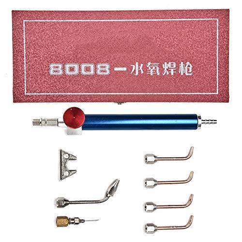 Betued sieradenlassen bewerkingsgereedschap, zuurstoffakkel U-vorm zitbranderpunt sieradenaccessoires, soldeerpistool met 5 punten voor zuurstofflessen
