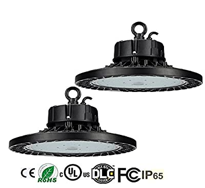 2 Pack BAT 200W (800W HPS/MH Equivalent) UFO LED High Bay Light,30000 Lumens Dimmable 5000K Warehouse High Bay Lighting for Factory/Shop/Industrial/Commercial Use(UL&DLC)