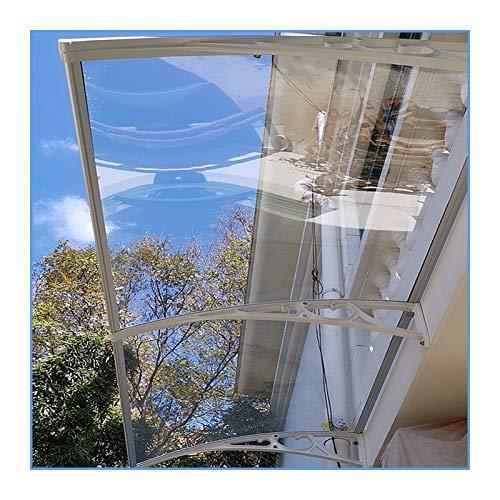GuoWei Marquesina para Puertas Ventanas, Toldo Exterior De Policarbonato Transparente, Cubierta Impermeable para Lluvia Y Nieve, Tamaño Personalizado (Color : Claro, Size : 60x200cm)