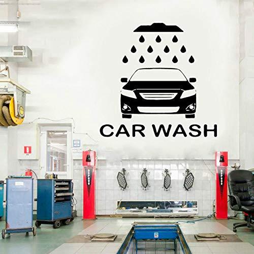 SLQUIET DIY Autowaschservice Wandaufkleber Auto Werkstatt Logo Auto Service Aufkleber Home...