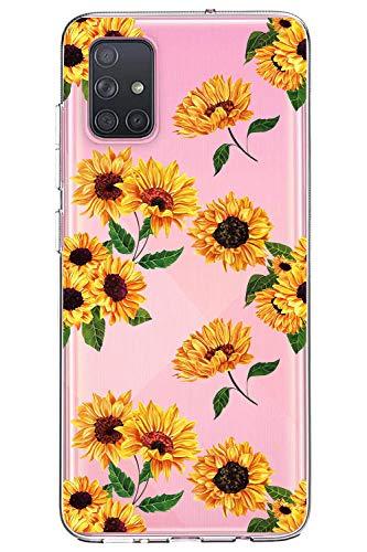 Oihxse Cristal Funda para Samsung Galaxy J5 Transparente Suave TPU Flores Girasoles...