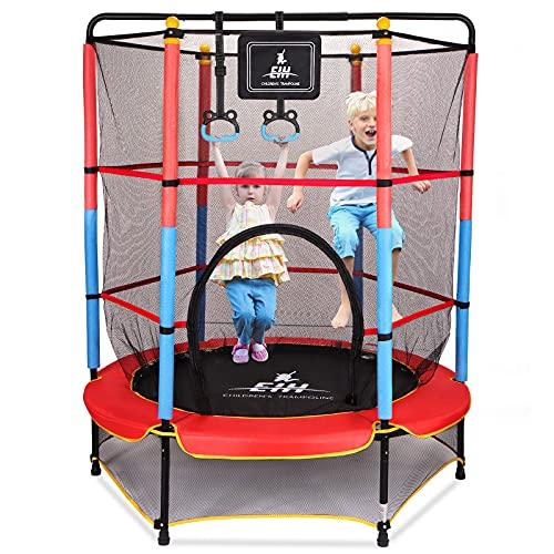 "EIH Kids Trampoline, 55"" Small Trampoline with Safety..."