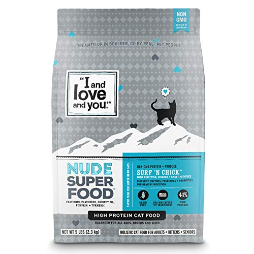Alimento para gatos sin grano Nude Surf 'n Chick – I and Love and You