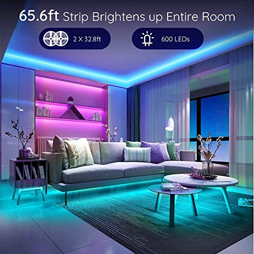 Govee 65.6 Feet RGB Led Light Strip, App Control, Music Mode for Room, Kitchen, Ceiling, Party 5