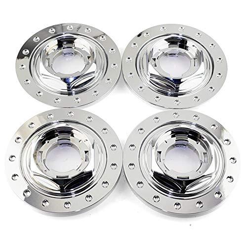 xy Tapas para Llantas de Coche 4pcs 150mm 101mm Customer Center Center Custor Auto Accessorie Fit for 09.23.264 09.24.137 Cubierta de llanta ABS Emblema (Color : Chrome Silver)