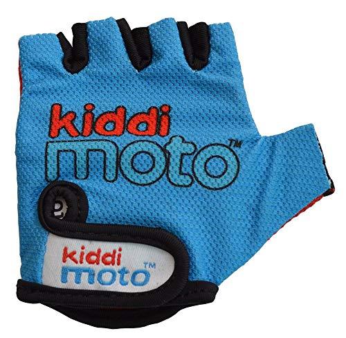 KIDDIMOTO Kinder Fahrradhandschuhe Fingerlose für Jungen und Mädchen/Fahrrad Handschuhe/Bike Kinder Handschuhe - Blau - M (4-8y)