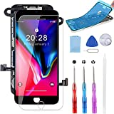 BeeFix for iPhone 8 Screen Replacement Black 4.7 Inch,3D Touch LCD Digitizer Display Assembly Repair Kits with Waterproof Adhesive,Tools and Screen Protector for A1863, A1905, A1906