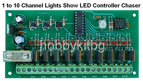 1bis 10-Kanal Licht Show LED Programmierbare Controller Chaser Pic microcontoller