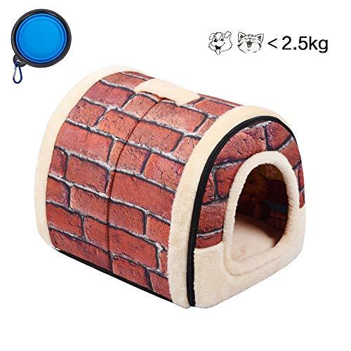 Enko Lusso Cozy 2-in-1 Pet House e Divano, Di Alta Qualità Per Interni ed Esterni Portatile Pieghevole Dog House / Gatti Per Letto. Dare il Vostro Animale Domestico Una Casa calda.
