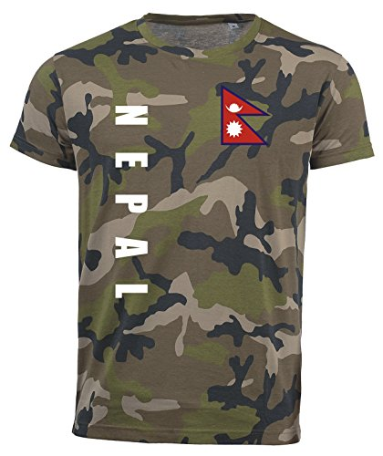 aprom Nepal T-Shirt Camouflage Trikot Look Army Sp/A (L)