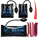 Nid Air Wedge Bag Kit - Commercial Grade Leveling Kit & Alignment Tool Inflatable Shim Pump Wedge, 3 Sizes(Small, Medium, Large) 300LB Rating, 4pcs Trim Removal Tool
