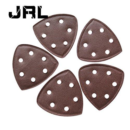Jrl 5pc 90 mm * 90 mm * 90 mm disque de ponçage pour Grain 100 6 trous papier abrasif