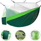 BAOLIDA Hamac d'extérieur Double Portable Hamac Jardin avec moustiquaire pour Camping Randonnée Voyage Portant 250Kg Hamac Ultra-léger en Nylon Parachute