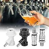 Kuuleyn 【𝐃𝐢𝐚 𝐝𝐞 𝐥𝐚 𝐌𝐚𝐝𝐫𝐞】 Poste de Bloqueo de Bola de Barril de Cerveza de Acero Inoxidable, Conector de Poste de Bloqueo de Bola de Barril de Cerveza casera de 1/4 pulg.