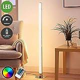 Lindby LED Stehlampe 'Hadis' dimmbar mit Fernbedienung (Modern) in Chrom u.a. für Wohnzimmer & Esszimmer (1 flammig, A+, inkl. Leuchtmittel) - LED-Stehleuchte, Floor Lamp, Standleuchte