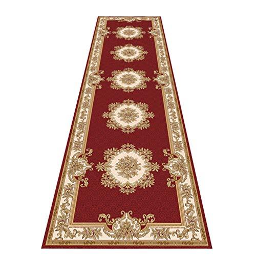 QianDa Tappeto Passatoia Tappeti Corridoio Extra Lungo Tappeti Persiano Stile Antiscivolo Mucchio Denso Morbido Ingresso Tampone Pulizia Facile - Rosso (Size : 60x300cm)