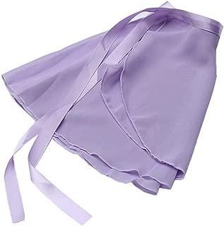 Girls Ballerina Sheer Wrap Ballet Tutu Dress Child Dance Skate Over Scarf Dancewear with Tie Waist Chiffon Dance Skirts