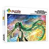 ZTCLXJ Puzzle Decoración Chica De Fantasía Hatsune Miku 1000 Piezas Puzzles Junior para Adultos Y Niños Cumpleaños Navidad Regalo para Desarrollar La Imaginación De Los Niños (75 × 50 Cm)