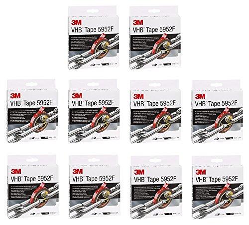 10er Maxi Sparpack 3M VHB 5952F doppelseitiges Hochleistungsklebeband, 19 mm x 3 m, schwarz 5952193 (10)