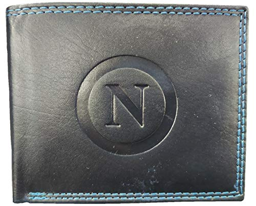 Geldbörse Ssc Fußball Napoli Herren Echtleder Offizielles Produkt Enzo Castellano