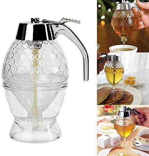 Beverl Honing Dispenser glas kristal transparant honing sap opslag container fles cup bakken gereedschap