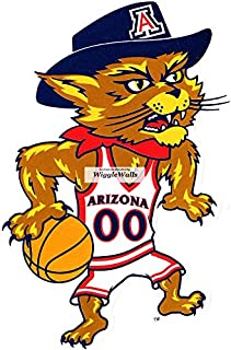 5 Inch Wilbur Wildcat Basketball University of Arizona UA Wildcats AZ Removable Wall Decal Sticker Art NCAA Home Room Decor 3.5 by 5.5 Inches