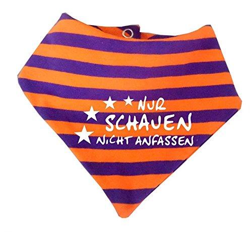 KLEINER FRATZ KLEINER FRATZ Baby Halstuch gestreift (Farbe orange-lila) (Gr. 2 (74-98) Nur schauen nicht anfassen/FAT