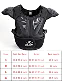 BARHAR Kids Dirt Bike Body Chest Spine Protector Armor Vest Protective Gear for Dirtbike Bike Motocross Skiing Snowboarding (Black, L)