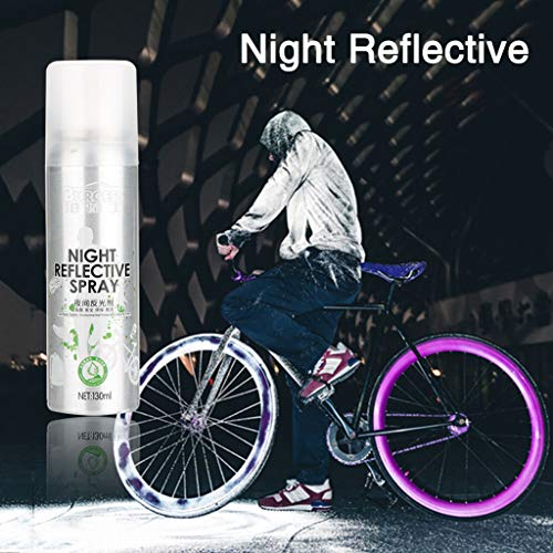 Sixcup® Riding Bike Farbspray,Night Reflective Spray Paint Reflektierende Sicherheitsmarkierung Anti Accident Riding Bike Night Spray,Erwachsene Reflektorspray