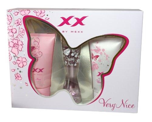 Mexx XX Very Nice, femme / woman, Geschenkset (Eau de Toilette 20 ml + Showergel Nice 50 ml + Showergel Very Nice 50 ml)