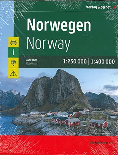 Norwegen, Autoatlas 1:250.000 - 1:400.000 (freytag & berndt Autoatlanten)