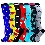Compression Socks for Women & Men Circulation-Compression Socks 20-30 Mmhg-Best for Running,Medical,Nurse,Travel,Cycling