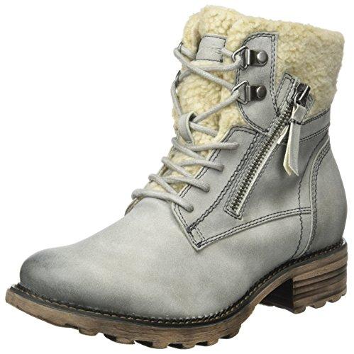 Tamaris Damen 26050 Combat Boots, Grau (Fog), 37 EU