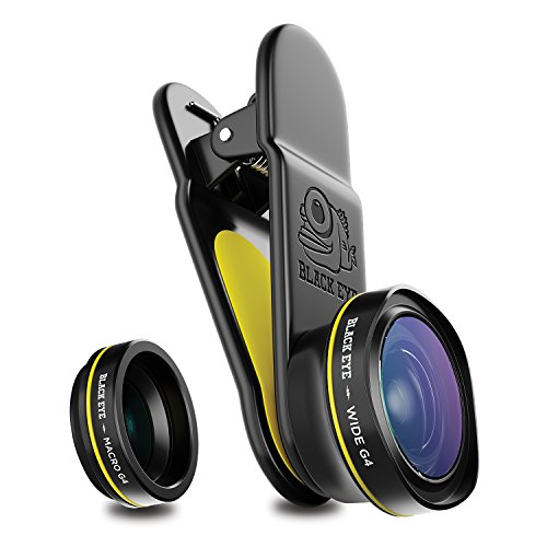 BLACK EYE Combo G4 Kombo-Paket mit Wide G4 und Macro G4 (160° Weitwinkel- und 15-Fach Makro-Objektiv in einem Paket, Universelle Clip-Befestigung, Funktioniert auch mit MultiCams & Frontkameras)