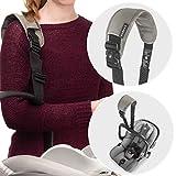 Zamboo Tragegurt für Babyschale - Universal Tragehilfe mit Anti-Rutsch-Pad und Schulterpolster, erleichtert Transport von Baby Autositzen (z.B. Maxi-Cosi, Cybex, uvm.) - Schwarz Grau