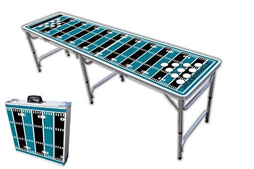 Lowest Price! 8-Foot Professional Beer Pong Table w/Holes - Jacksonville Football Field Graphic