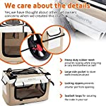 Display4top Pet Travel Stroller Dog Cat Pushchair Pram Jogger Buggy w/Locking Zippers Plush Nap Pillow 2X Interior Room Airy Windows Sunroof Reduces Anxiety 16
