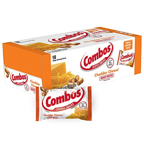COMBOS Cheddar Cheese Pretzel Baked Snacks 18Ounce Bag 18Count Box