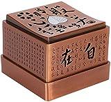 LQ Incienso Quemador 2.6x3in el corazón Sutra Grabado Incienso de Incienso artesanía de hogares...