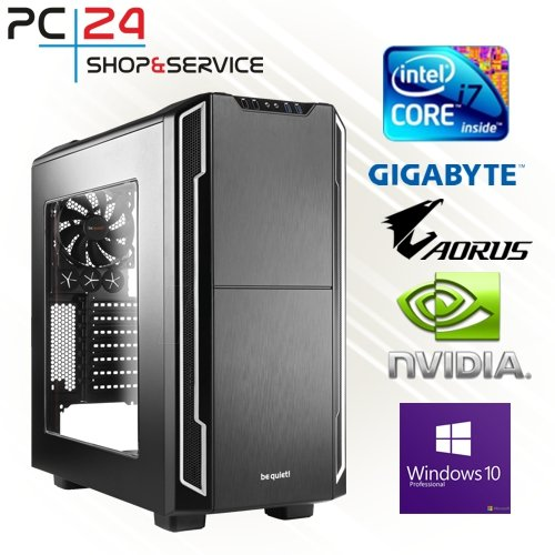 PC24 Gamer PC | Intel i7-9700K @8x4,50GHz | 500GB M.2 970 EVO Plus M.2 SSD | nVidia GF RTX 2080Ti mit 11GB RAM | 32GB DDR4 PC2666 RAM G.Skill | Gigabyte Z390 Aorus Pro | Windows 10 Pro | Gaming PC