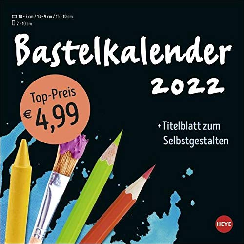 Bastelkalender schwarz klein 2022