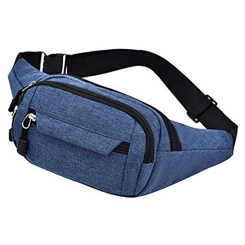 shuangklei Frauen Männer Sport Oxford Hüfttaschen Outdoor Running Fitness Brusttaschen Reißverschluss Schulter Gürteltasche Unisex Casual Belt Pack Simple-A