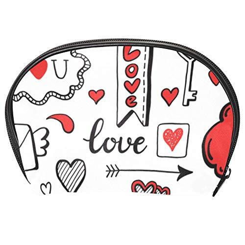 TIZORAX Sac à cosmétiques de voyage avec motif amour et cœur