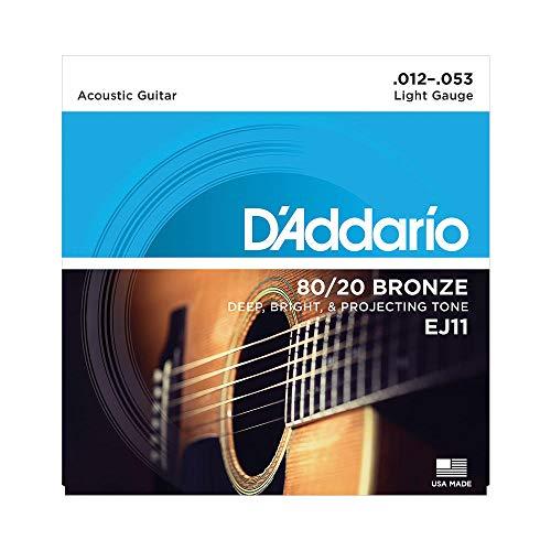 D'Addario EJ11 Bronze Satz Akustikgitarren-Saiten Light 012' - 053'