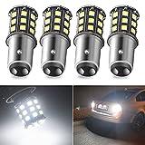 1157 Led Bulb 1034 2057 7528 BAY15D 2357 Light Bulb for RV Camper Trailer Car Turn Signal Bulb Brake Light Bulb Tail Lights Back Up Parking Lights White, Pack of 4