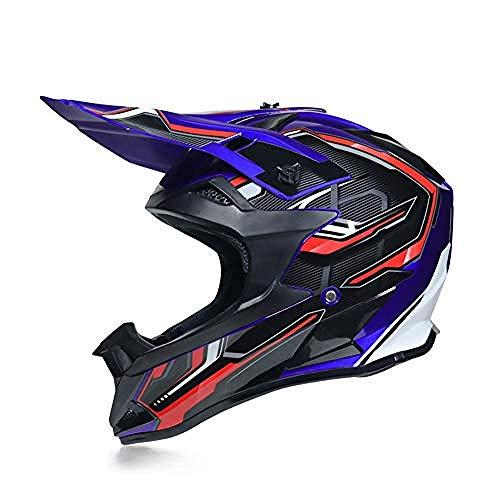 Motocross Motocicletas Casco Unisex Cross Helmet Casco de Moto para Hombre DH...