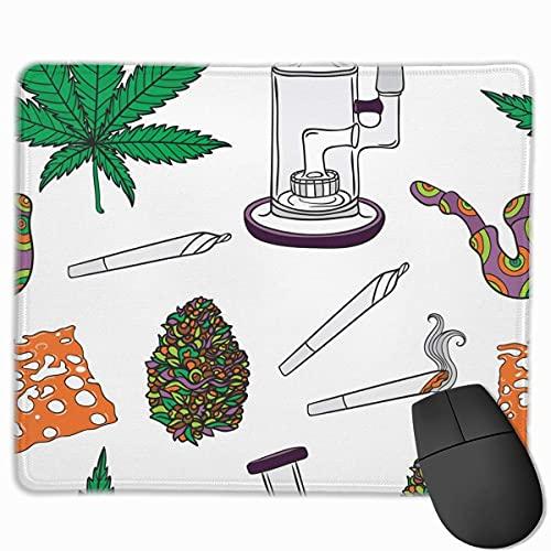 Cannabis Realistische Bong Gesundheitswesen Medizinische Mauspad Büroraum Dekor Home Office Computerzubehör Mauspads