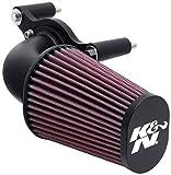 K&N 63-1125 Waschbarer und wiederverwendbarer Motorrad Hochleistungsluftfiltersystem