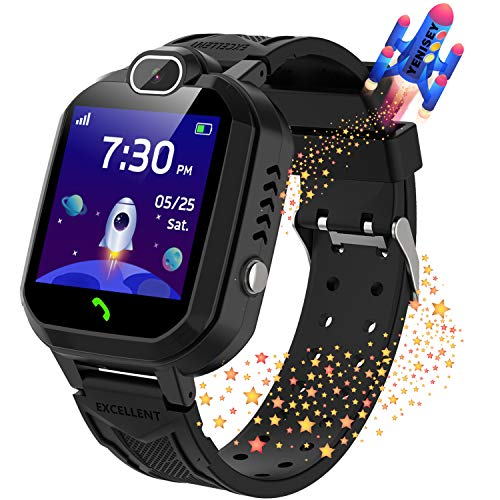 Kids Smartwatch for Boys Girls Phone Game Smart Watch for Kids Children Music Player Camera Alarm Clock Birthday Gift by YENISEY (Black)