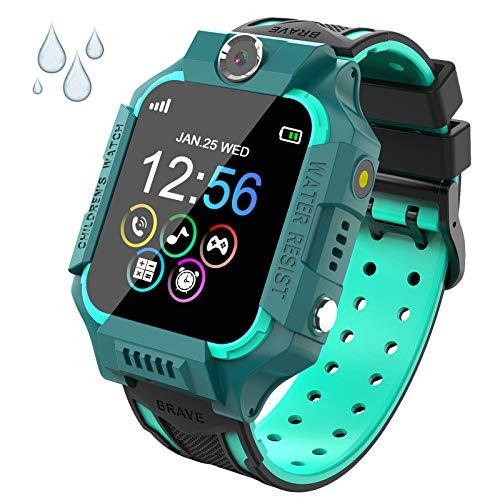 PTHTECHUS Reloj Inteligente Niño de Podómetro, Impermeable Smartwatch Niños con 14 Juegos SOS Llamada MúSica Linterna Cámara Despertador Regalos para niños de 4 a 12 años (Y19-Blue)
